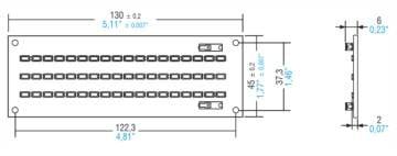 """מודול לד מלבן באורך 130 מ""""מ בהספק 16.8W"""