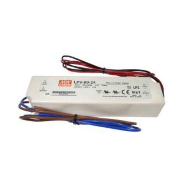 דרייברים מתח - דרייבר MW LPV 60W 24V