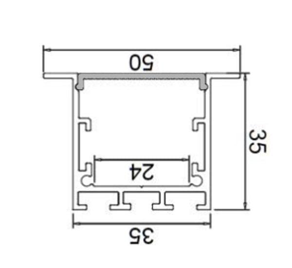 פרופילים - פרופיל אלומיניום 3535B
