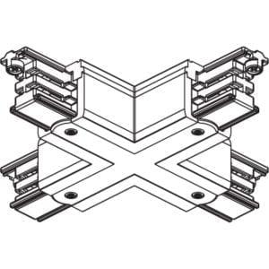 מחבר X לפס צבירה תלת פאזי לבן