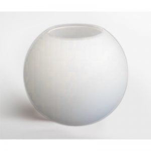 """זכוכית כדור חלבית קוטר 250 מ""""מ"""